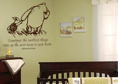i love the idea of an old fashioned winnie the pooh nursery