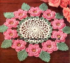The Rose Doily    Doilies, Doilies and More Doilies  Star Doily Book No. 120  American Yarn Co. 1955
