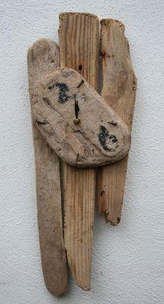 Driftwood Clock Cornish driftwood furniture,Unique Clock, Drift Wood
