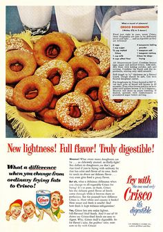 Crisco Doughnuts! . .I think this is similar to the doughnuts my mom used to make