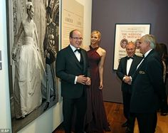 Prince Albert and Princess Charlene attended a  new exhibition  opening about  Princess Grace of Monaco in Philadelphia.