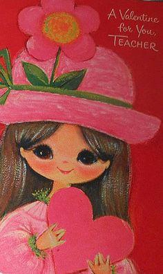 Vintage Valentine for teacher