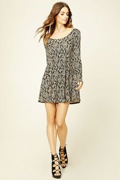 Vestido Hojas de Invierno - Mujer - Vestidos - 2000235639 - Forever 21 EU Español