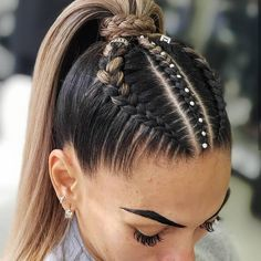 Pin on Hair Ideas Pin on Hair Ideas Cool Braid Hairstyles, Easy Hairstyles For Long Hair, Baddie Hairstyles, Teen Hairstyles, Braids For Long Hair, Athletic Hairstyles, Curly Hair Styles, Natural Hair Styles, Festival Hair
