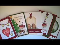 Christmas cards share featuring the Sweet Holiday Greetings stamps from Your Next Stamp - YouTube