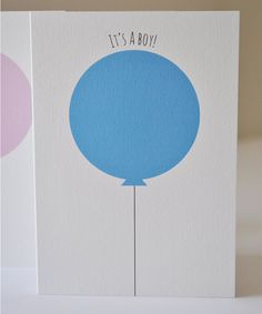 New Baby Card It's a... by thetwowagtails on Etsy