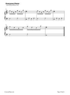 Ballade pour Adeline-Ballad for Adeline Stave Preview 3