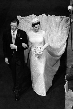 Vogue:  APRIL 1963 – Princess Alexandra marries Angus Ogilvy at Westminster Abbey in London. Photo By PA Photos