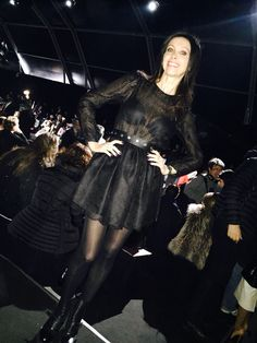 Lorena Baricalla guest at the Milano Fashion Week Feb 2015