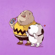 Chunky Snoopy & Chunky Charlie Brown
