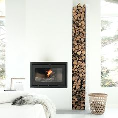8 beautiful wooden wall designs, from log stacks to reclaimed planks (image by Elisabeth Heier)