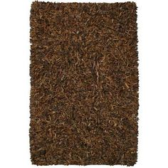 Pelle Leather Shag Rug 8 by 10Feet Brown *** Read more reviews of the product by visiting the link on the image.