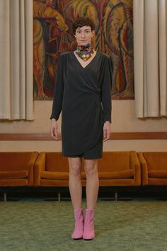 MAVTI - overlap dress Women Wear, High Neck Dress, Contemporary, Collection, Dresses, Fashion, Turtleneck Dress, Vestidos, Moda
