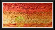 A Journey into Quilling & Paper Crafting: Orange Sunset- Quilled Landscape Picture Art
