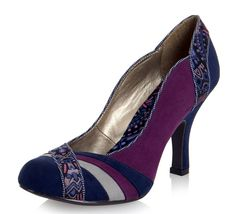 Ruby Shoo Heather Purple High Heel Court Shoes