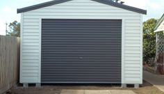 colorbond shed surfmist - Google Search Hamptons House, The Hamptons, Shed Exterior Ideas, Colour Schemes, Bbq, Garage Doors, Outdoor Structures, Outdoor Decor, Google Search