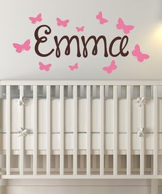 Take a look at this Butterflies Personalized Wall Decal on zulily today!