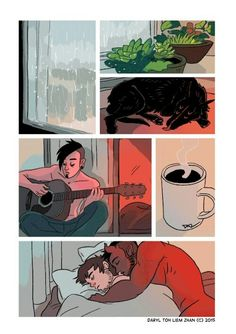 Tobias y Guy (Cómics Español) [Yaoi-Gay] Gay Comics, Short Comics, Cute Comics, Funny Comics, Tobias And Guy Comic, The Awkward Yeti, Comics Story, Gay Art, Anime