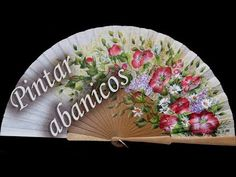 How to paint fans Painted Fan, Make It Yourself, Diy, Tableware, Fans, Embroidery Ideas, Shibori, Youtube, Drawing