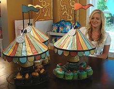 EXALTED BEAUTY: Carnival Birthday Party food carousels