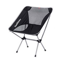 Naturehike Portable Camping Aluminium Alloy Stool Outdoor Foldable Chair Fishing Chair(Silver)
