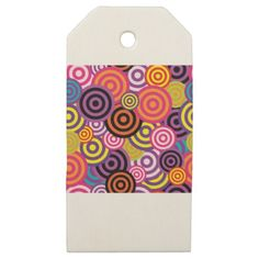 New Circle Abstract art Wooden Gift Tags - modern gifts cyo gift ideas personalize