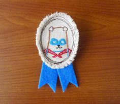 hand embroidered medals - cute