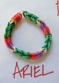 Disney theme Rubber Band bracelet: Little Mermaid