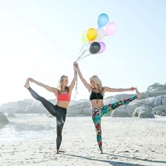 🎈Happy International Yoga Day! 🎈 So much gratitude for a lifestyle and community that transformed my life and so many others. Yoga girls in Spiritgirl eco friendly workout leggings. Acro yoga.
