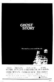 """Ghost Story (1981)  In a small New England town, four elderly men form what they call the """"Chowder Society,"""" regaling themselves with the telling of scary """"ghost stories."""" Membership in the club, in fact, requires that one present such a story. The four old friends consist of Ricky Hawthorne (Fred Astaire), a lawyer, and his partner Sears James (John Houseman), along with Dr. John Jaffrey (Melvyn Douglas) and Edward Charles Wanderley (Douglas Fairbanks, Jr.), a successful businessman."""