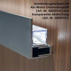 1m Aluminium-Profil Blende fü LED-Stripes eloxiert