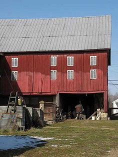 Barn and Tractor | Flickr - Photo Sharing!