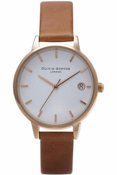 Olivia Burton The Dandy Tan and Rose Gold