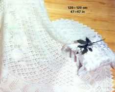 Baby Matinee Jacket and Christening Shawl, instructions for and yarn for sizes 17 - 19 ins - PDF of Vintage Knitting Pattern Knitting Terms, Lace Knitting Patterns, Double Knitting, Knitting Yarn, Baby Knitting, Aran Weight Yarn, Sport Weight Yarn, Moss Stitch, Seed Stitch