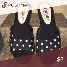 Daisy shoes for women Daisy shoes, open back. Black and white polka dots. Used but in excellent condition. Daisy made in the USA Shoes Heels