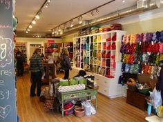 cute yarn shop.