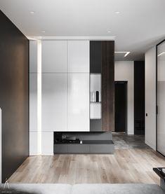 Ninterior designDesign: Maxim Tsiabus for Vae. Lofts, Shoe Cabinet Design, Living Room Tv Unit Designs, Cocinas Kitchen, Bedroom Furniture Design, Wardrobe Design, Loft Style, Interior Design Studio, Living Room Interior