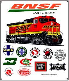 119 best images about Railroads Train Posters, Railway Posters, Bnsf Railway, Railroad Pictures, Railroad History, Union Pacific Railroad, Burlington Northern, Railroad Photography, Rail Car