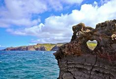 Rock Formation - North Shore of Maui, Hawaii - They say couples who kiss in view of this formation will be blessed with eternal happiness