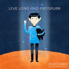 Live long and prospurr | Via 28 DAYS OF PURRFECT DOODLES on Behance
