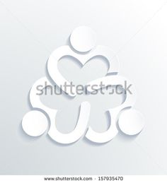 Business label white icon design. Heart sharing 3