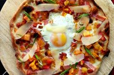 Bacon and Egg Flatbread from 15 Better-Than-Takeout Pizza Recipes (Slideshow)