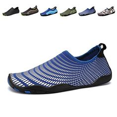 28badede603a CIOR Men Women s Barefoot Quick-Dry Water Sports Aqua Shoes with 14  Drainage Holes for Swim