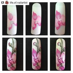 #Repost @life.of.nailartist with @repostapp ・・・ Step by step of an orchid…