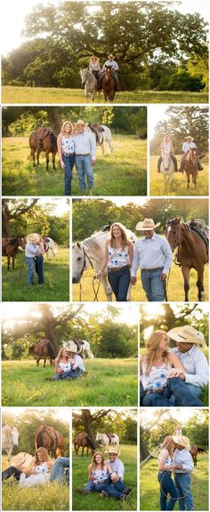 Photos by capturing me photography! Rustic engagement pictures horses country cowboy engagement country engagement photos