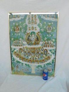 Chinese Immortals Krishna Gods Goddesses Painting On Fabric Wax Stamp Krishna Hindu, Bal Krishna, Shree Ganesh, Hindu Deities, Baby Ganesha, Lord Ganesha, Avatar Poster, Dancing Ganesha, Shri Yantra
