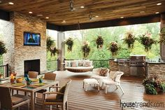 Outdoor living spaces from Housetrends. Over 40 incredible photos of outdoor living spaces provide the ideas and inspiration you'll need to tackle that project you've always wanted for your home.
