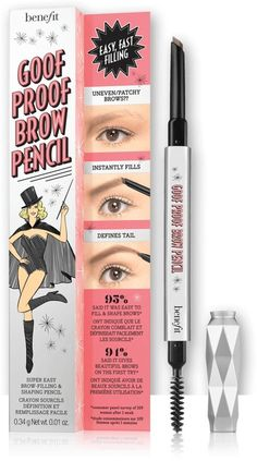Benefit Goof Proof Brow Pencil Easy Shape & Fill Pencil, new for summer 2016
