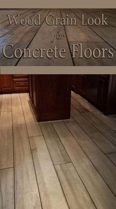 concrete flooring Wood Grain Concrete Floors and Driveways. Can You Believe Its NOT Wood Do-It-Yourself Using DCI Concrete Overlay, Liquid Colored Antique Concrete Stain and Pigment to Simulate a Wood Grain Concrete Finish.