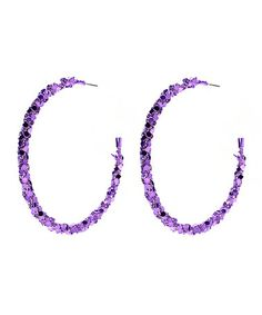 Another great find on #zulily! Purple Shimmer SoHo Hoop Earrings by Amrita Singh #zulilyfinds